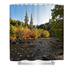 Boulder Colorado Canyon Creek Fall Foliage Shower Curtain
