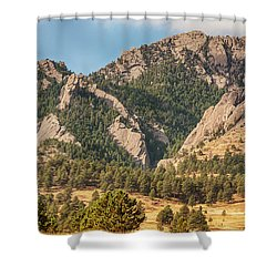 Shower Curtain featuring the photograph Boulder Colorado Rocky Mountain Foothills by James BO Insogna