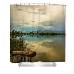 Shower Curtain featuring the photograph Boulder County Colorado Calm Before The Storm by James BO Insogna