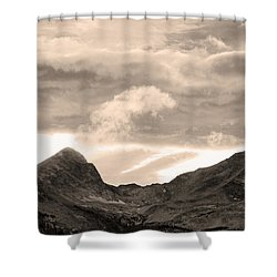 Boulder County Indian Peaks Sepia Image Shower Curtain by James BO  Insogna
