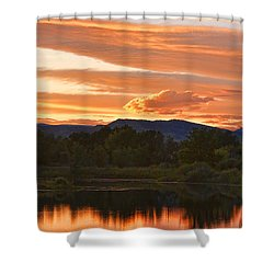 Boulder County Lake Sunset Vertical Image 06.26.2010 Shower Curtain by James BO  Insogna