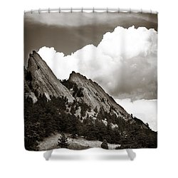 Large Cloud Over Flatirons Shower Curtain by Marilyn Hunt