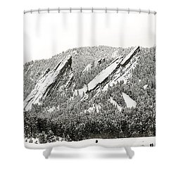 Boulder Flatirons Colorado 1 Shower Curtain by Marilyn Hunt