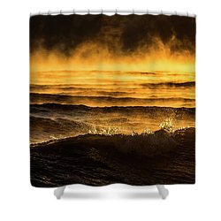 Boulder Point Shower Curtain