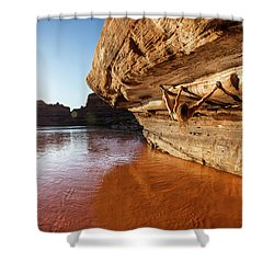 Bouldering Above River Shower Curtain