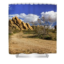 Boulders At Apple Valley Shower Curtain by James Eddy
