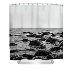 Boulders In The Ocean Shower Curtain