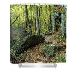 Boulders On The Bear Hair Gap Trail Shower Curtain