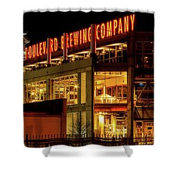 Boulevard Beer Sign Shower Curtain