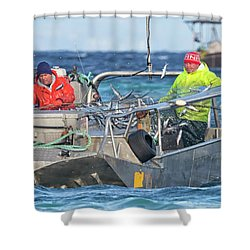 Shower Curtain featuring the photograph Bouncing Herring by Randy Hall