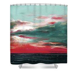 Bound Of Glory - Panoramic Sunset  Shower Curtain