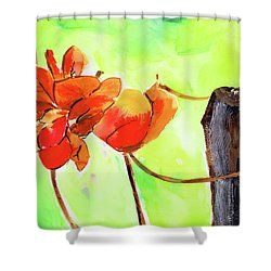 Shower Curtain featuring the painting Bound Yet Free by Anil Nene