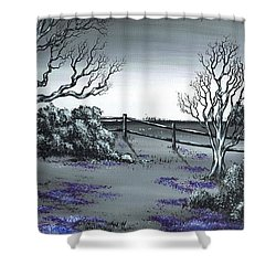 Boundry Fence. Shower Curtain