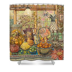 Bountiful Harvest Shower Curtain by Bonnie Siracusa
