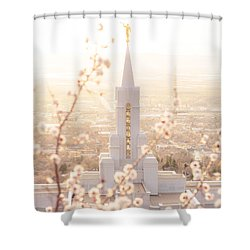 Bountiful Temple Blooms Shower Curtain