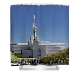 Bountiful Utah Temple In Spring Shower Curtain