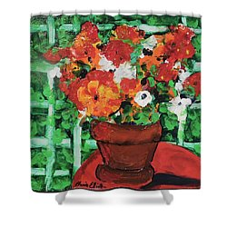 Bouquet A Day Floral Painting Original 59.00 By Elaine Elliott Shower Curtain