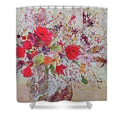 Shower Curtain featuring the painting Bouquet Desjours by Joanne Smoley
