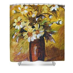 Bouquet Flowers Of Gold Shower Curtain
