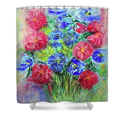 Shower Curtain featuring the painting Bouquet by Jasna Dragun
