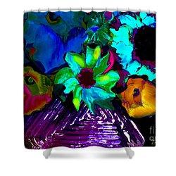 Bouquet In Fauve Shower Curtain