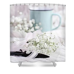 Shower Curtain featuring the photograph Bouquet Of Baby's Breath by Stephanie Frey