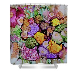 Shower Curtain featuring the painting Bouquet Of Blooms by Joanne Smoley