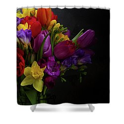 Flowers Dutch Style Shower Curtain