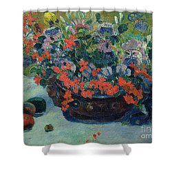 Bouquet Of Flowers Shower Curtain by Paul Gauguin