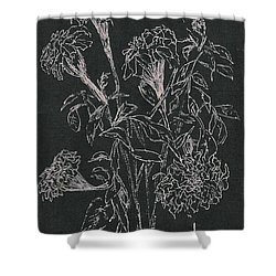 Shower Curtain featuring the painting Bouquet Of Flowers  by Vicki  Housel