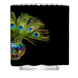 Shower Curtain featuring the photograph Bouquet Of Peacock by Rikk Flohr
