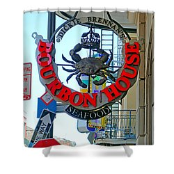 Bourbon House Signage Shower Curtain