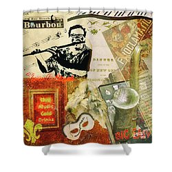 Bourbon Street Collage Shower Curtain