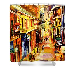 Bourbon Street Glitter Shower Curtain by Diane Millsap