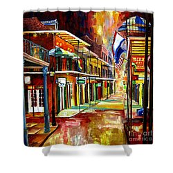 Bourbon Street Lights Shower Curtain by Diane Millsap