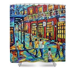 Bourbon Street New Orleans By Prankearts Shower Curtain by Richard T Pranke