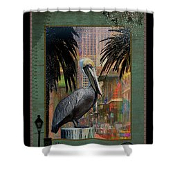 Bourbon Street Pelican Shower Curtain