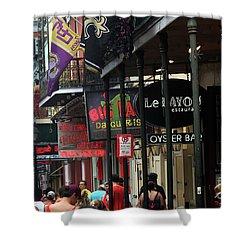 Shower Curtain featuring the photograph Bourbon Street by Steven Spak