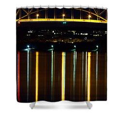 Bourne Bridge At Night Cape Cod Shower Curtain by Matt Suess