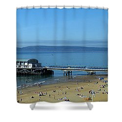 Bournemouth Pier Dorset - May 2010 Shower Curtain