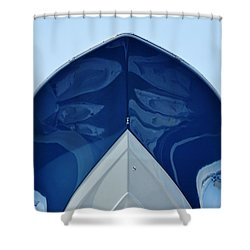 bow, deep V Shower Curtain by John Wartman