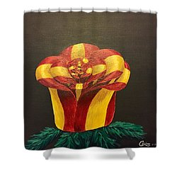 Bow Rose Shower Curtain