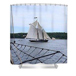 Bowditch Under Full Sail Shower Curtain