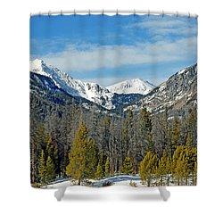 Bowen Mountain In Winter Shower Curtain