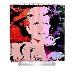 Bowie Alive In Color Shower Curtain