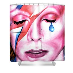 Shower Curtain featuring the photograph Bowie Tear by John Rizzuto