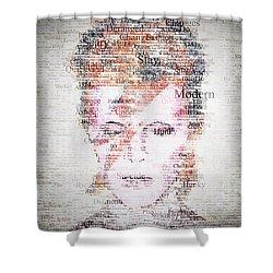 Bowie Typo Shower Curtain