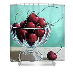 Bowl Of Cherries Shower Curtain