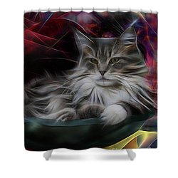 Bowl Of More Fur Shower Curtain