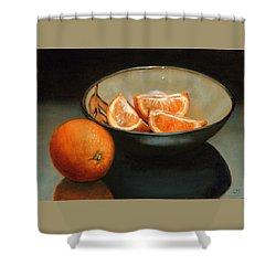 Bowl Of Oranges Shower Curtain